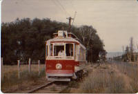 Historic trolley car Yakima Washington State, USA. 1976